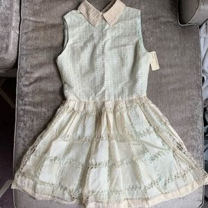 OPENING CEREMONY NWT Collared Lace Flare Dress 4